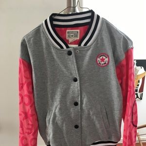 Converse all star girl baseball jacket ( 12- 13)